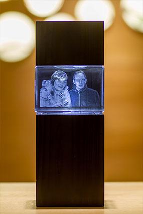 Beispiel für ein 3D Glaswürfel